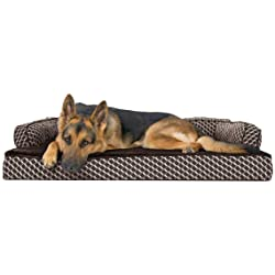Furhaven Pet Dog Bed | Orthopedic Plush Faux Fur Sofa-Style Living Room Couch Pet Bed for Dogs & Cats - Available in Multiple Colors & Styles