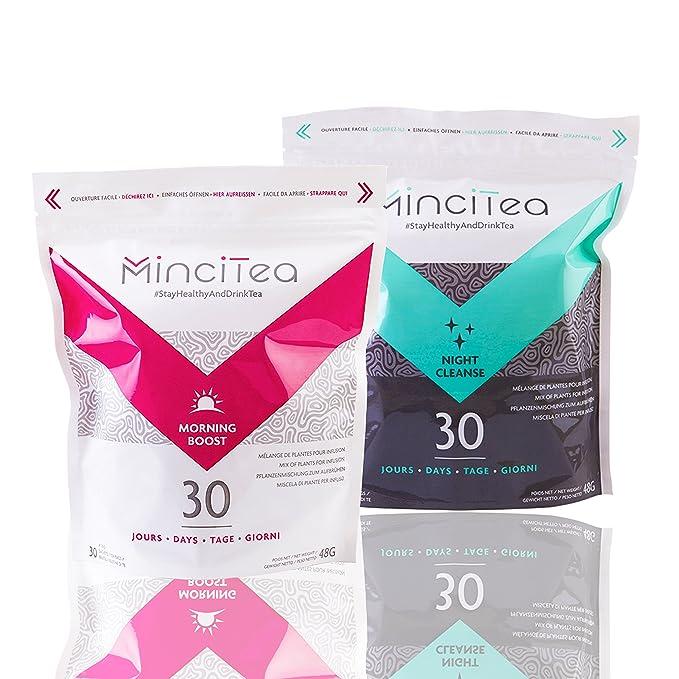 2 opinioni per Mincitea–Dieta detox giorno- notte 30giorni –tè dimagrante, bruciatore di