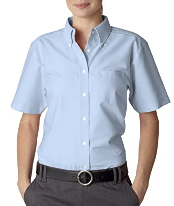 UltraClub womens Classic Wrinkle-Free Short-Sleeve Oxford(8973) at ...