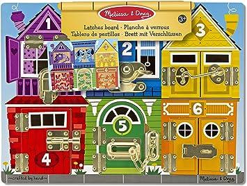 Comprar juego de mesa: Melissa & Doug- Tablero de pestillos, Multicolor (13785)