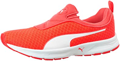 puma womens running shoes. puma women\u0027s burst slipon wn\u0027s idp red blast and white running shoes - 3 uk womens m
