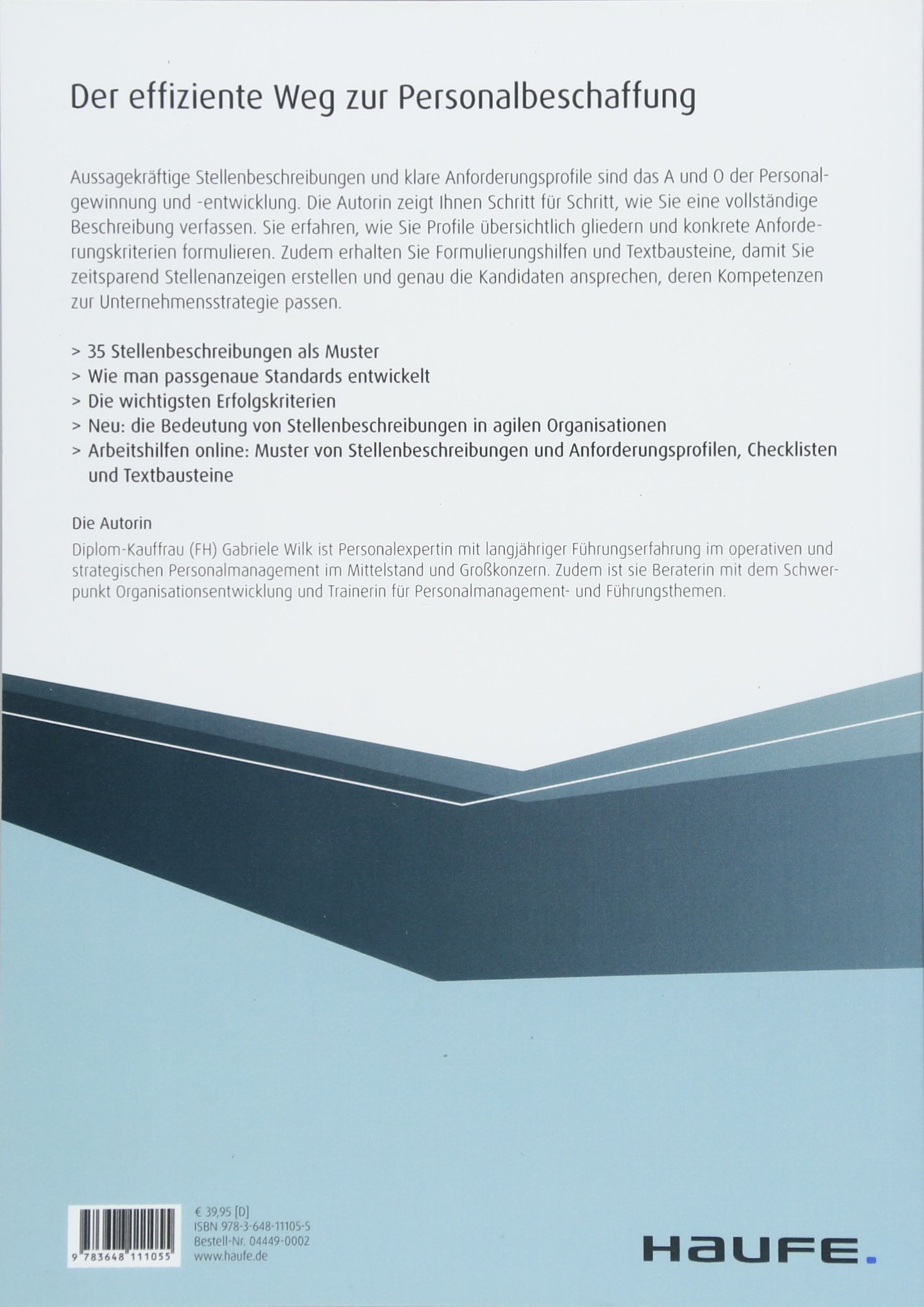 stellenbeschreibungen und anforderungsprofile inkl arbeitshilfen gabriele wilk amazonde bcher - Muster Stellenbeschreibung