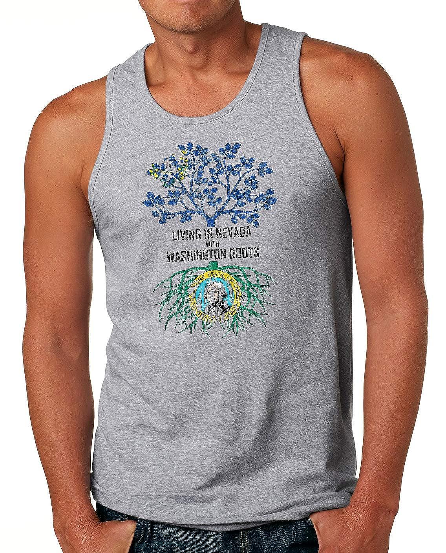 Tenacitee Mens Living in Nevada Washington Roots T-Shirt