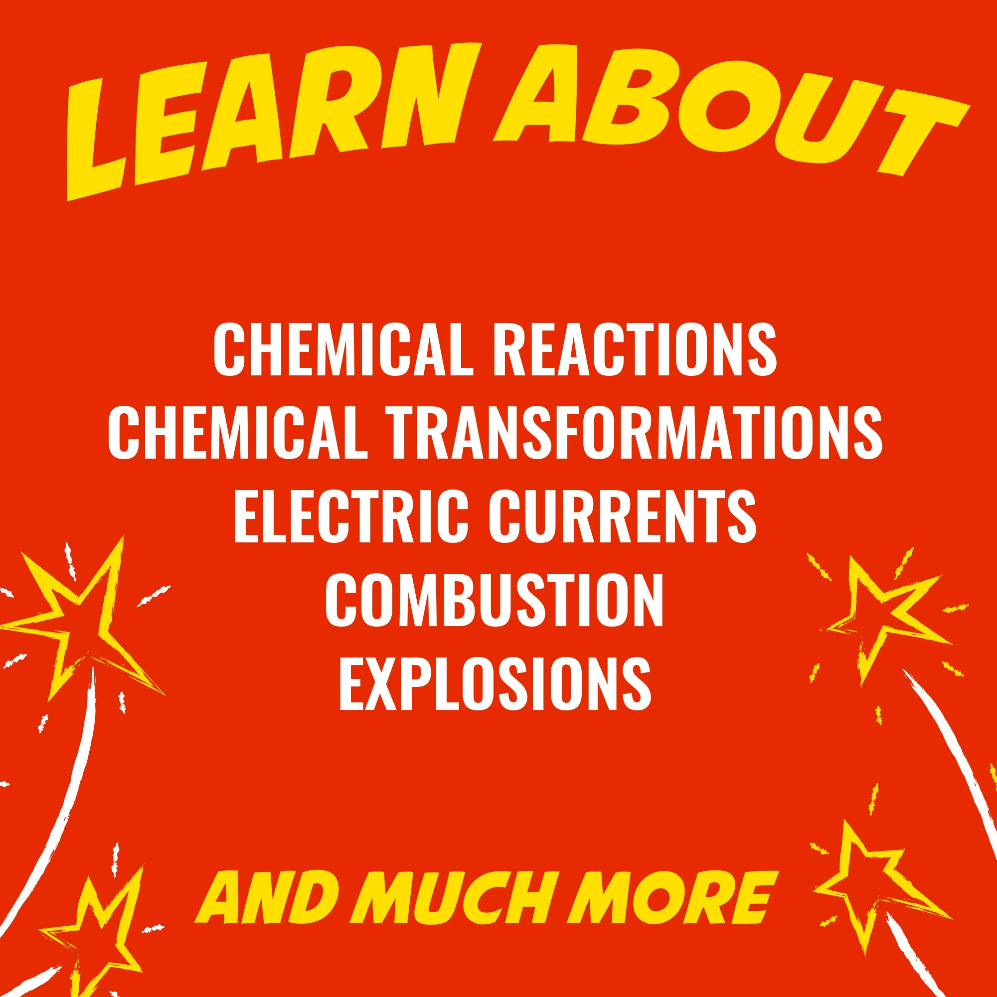 Playz Kaboom! Explosive Combustion Science Lab Kit - 25+ STEM Experiments - DIY Make Your Own Rockets, Helium Balloons, Fizzy Bombs, Color Explosions and More with Fun Chemical Reactions! by Playz (Image #3)