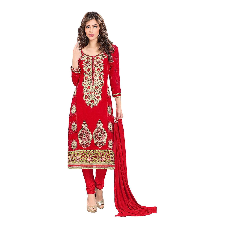 Florence Women's Georgette Unstitched Salwar Suit Dupatta