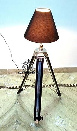 Vintage Designer Nautical Floor Shade Lamp Tripod Stand Home Decor