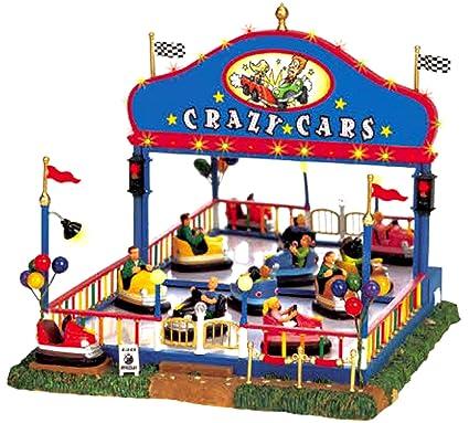 lemax 64488 crazy cars carnival ride amusement park christmas village