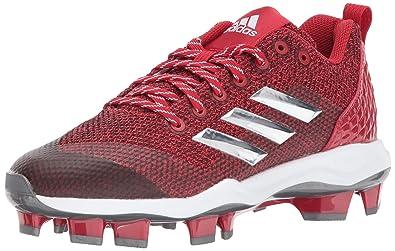 buy online 6e565 f5c39 adidas Men s Freak X Carbon Mid Softball Shoe, Power RED Metallic  Silver White