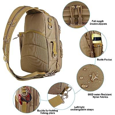 PLUSINNO Fishing Tackle Backpack Storage Bag,Outdoor Shoulder Backpack,Fishing G