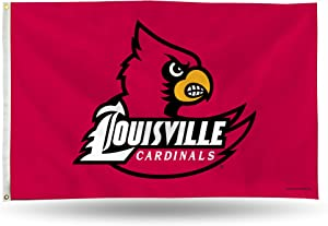 NCAA Louisville Cardinals 3-Foot by 5-Foot Single Sided Banner Flag with Grommets