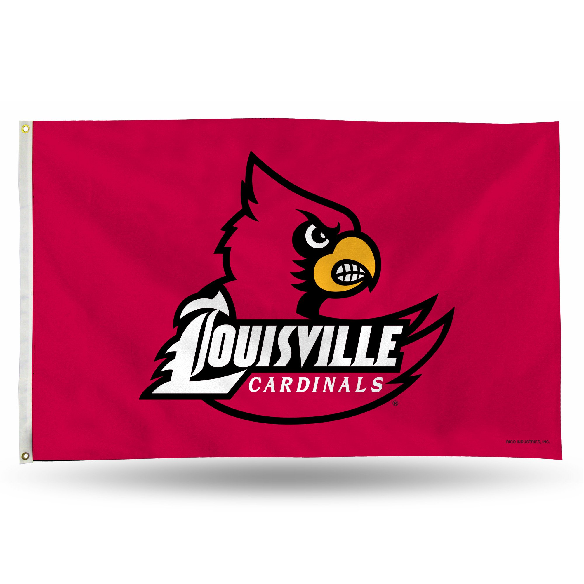 Rico Industries NCAA Louisville Cardinals 3-Foot by 5-Foot Single Sided Banner Flag with Grommets