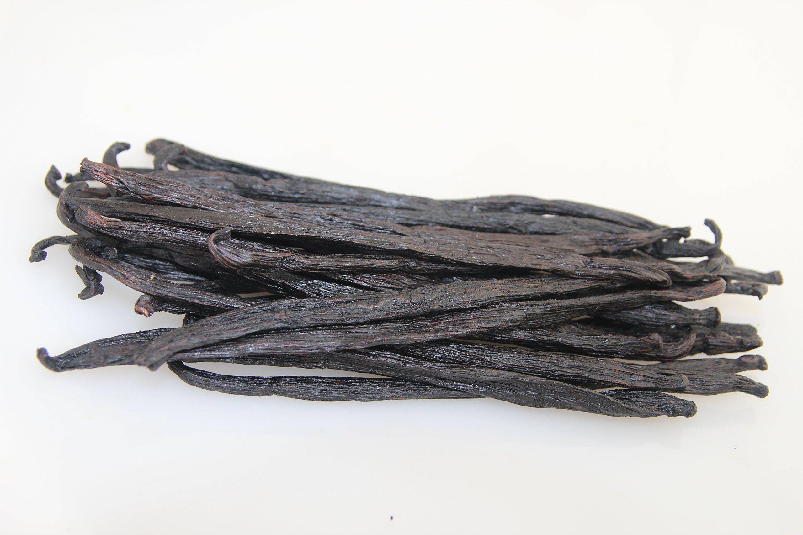 Bakto Flavors - 10 Vanilla Beans from Papua New Guinea-6'' long -Vanilla tahitensis