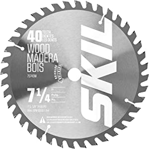 Skil 75740W 7-1/4-Inch 40-Tooth Carbide Tipped Circular Saw Blade for Circular Saw 5280-01/5180-01/5080-01