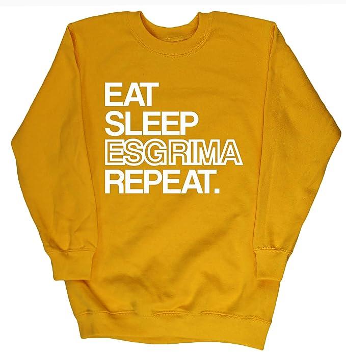 HippoWarehouse EAT SLEEP ESGRIMA REPEAT jersey sudadera suéter derportiva unisex niños niñas: Amazon.es: Ropa y accesorios
