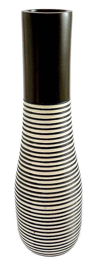 Amazon Roro 14 Inch Handmade Tear Drop Mango Wood Vase Black