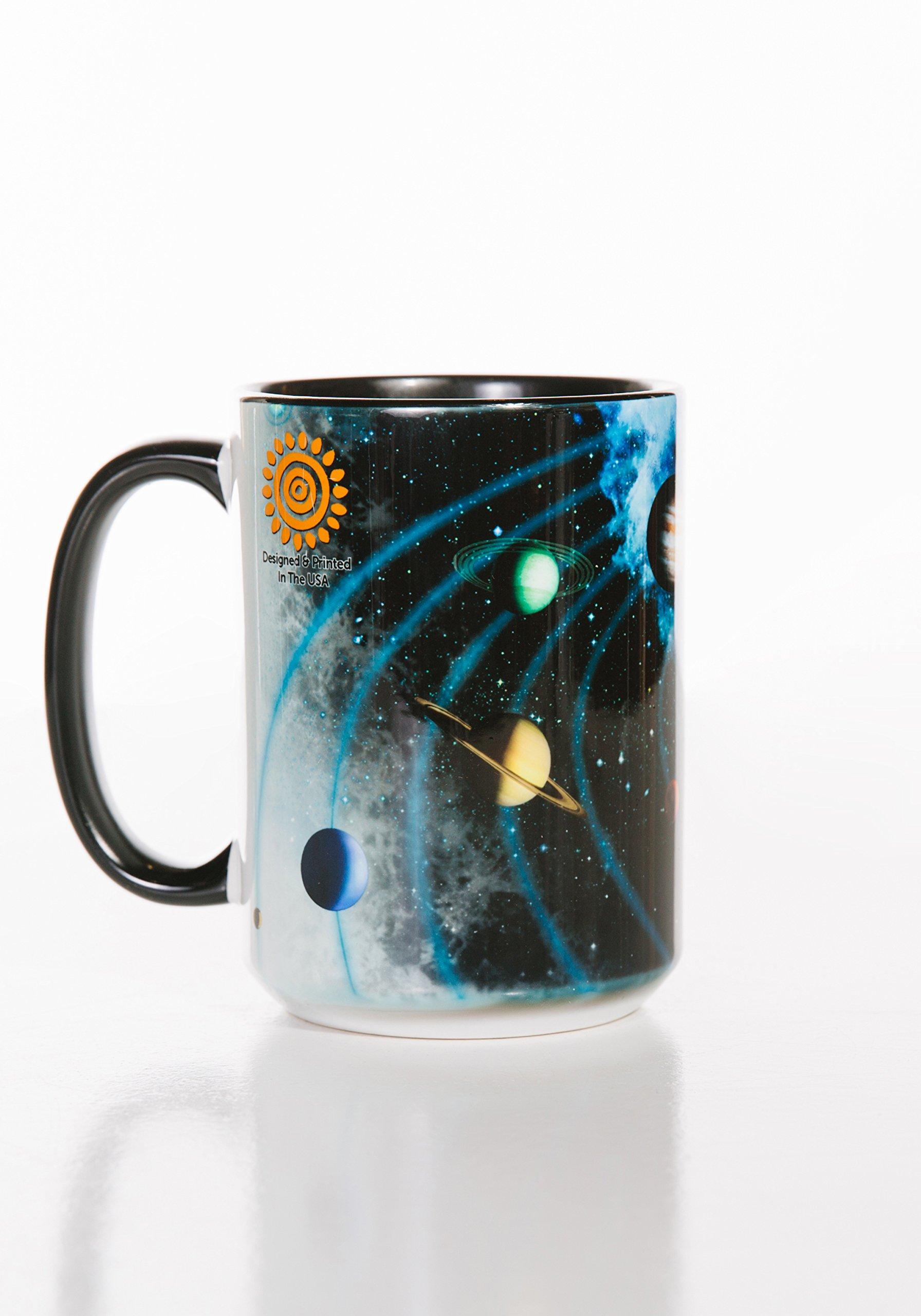 The Mountain 57312609001 Solar System Coffee Mug, 15 oz, Black