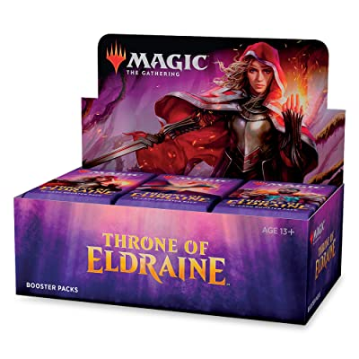 Magic: The Gathering Throne of Eldraine Booster Box | 36 Booster Pack (540 Cards) | Factory Sealed: Toys & Games