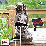 """FUENTE SOLAR EXTERIOR - FUENTE DECORATIVA """"Jardín clásico"""" - FUENTE DE AGUA SOLAR - FUENTE SOLAR - FUENTE EN CASCADA - FUENTE DE AGUA DECORATIVA fuente solar con batería Li-Ion & luz LED para el jardín, estanque, terraza"""