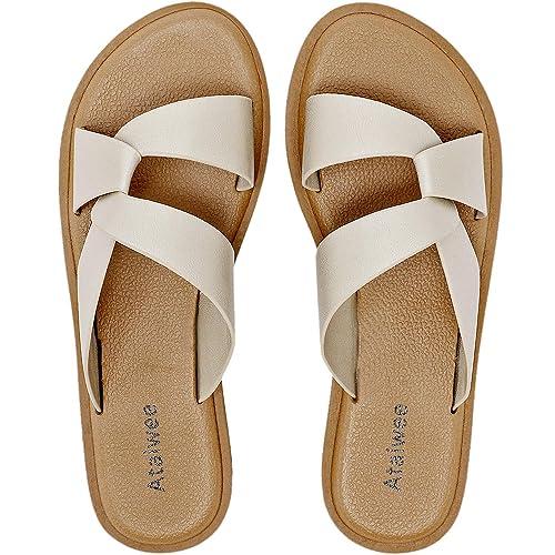 Buy Ataiwee Womens Wide Slide Sandals