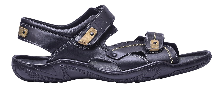 Vogar Hombre Zapatos Playa Cuero Calzado Verano Sandalias VG1153 EU 41 / 28.3 cm Negro