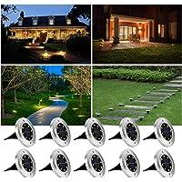 4/8/10 LED Solar vloerverlichting buiten tuin IP65 solarlamp roestvrij staal buitenlamp waterdicht bodemverlichting LED…