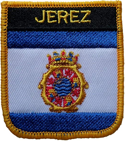 1000 banderas Jerez España escudo bordado parche insignia: Amazon ...