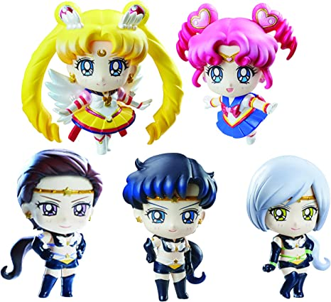 Sailor Moon Petit Chara Pretty Soldier Pack de 5 Figuras Sailor Stars 6 cm: Amazon.es: Deportes y aire libre