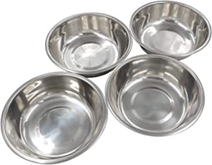 Forest Guys Dog Bowls Cat Bowls (Stainless Steel Bowls, 4-Pack)