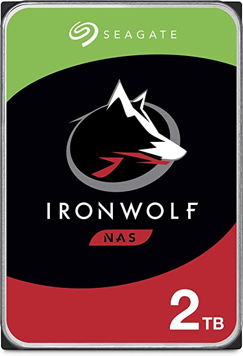 Seagate IronWolf 2TB NAS Internal Hard Drive HDD – CMR 3.5 Inch SATA 6Gb/s 5900 RPM 64MB Cache for RAID Network Attached Storage – Frustration Free Packaging (ST2000VN004)