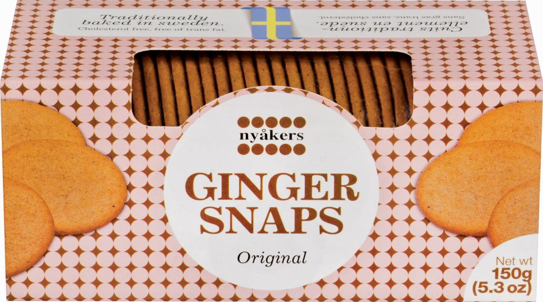 Nyakers Swedish Ginger Snaps, Original Flavor, 150g