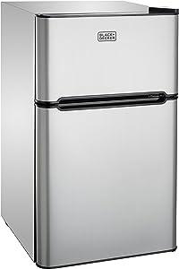 BLACK+DECKER BCRD32V 3.2 Cubic Foot 2 Door Refrigerator with True Freezer, VCM