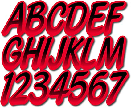 STIFFIE Whipline Pink//Black 3 Alpha-Numeric Registration Identification Numbers Stickers Decals for Boats /& Personal Watercraft .