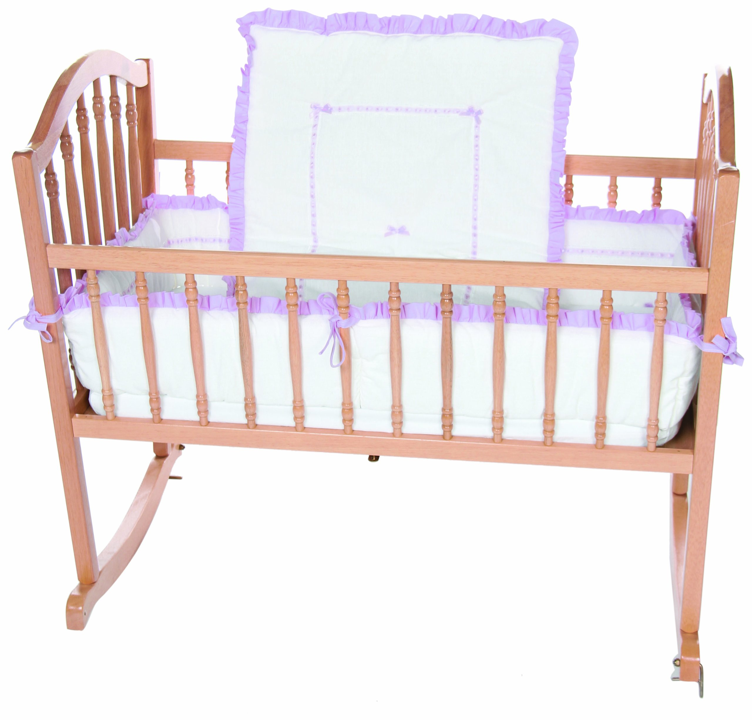 Baby Doll Bedding Unique Cradle Bedding Set, Lavender