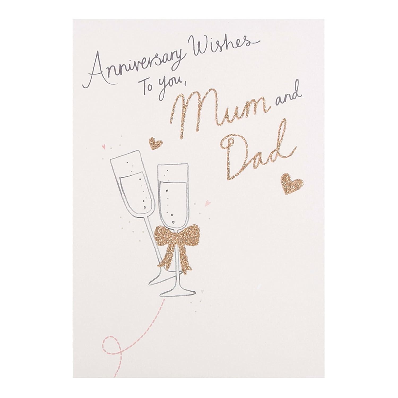 "Hallmark Anniversary Card""Mum and Dad"" - Medium 25450599"