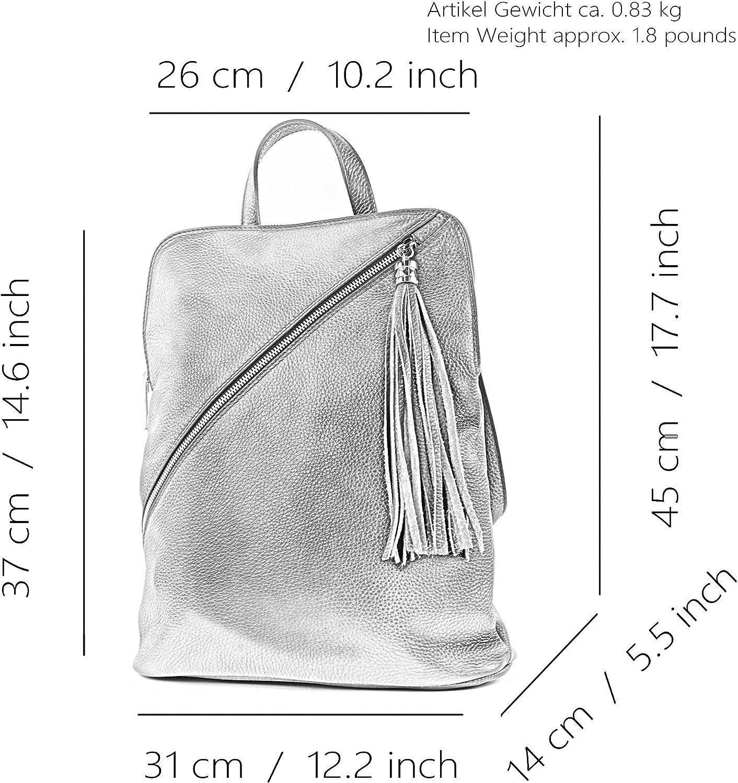zaino in pelle zaino 3in1 zaino Citybag T141 T161 Bordeaux Viola
