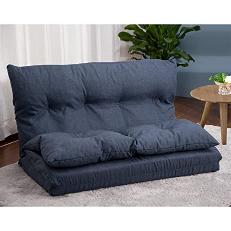 Merax Adjustable Fabric Folding Chaise Lounge Sofa Chair Floor Couch (Navy 1)  sc 1 st  Amazon.com : chaise sofa chair - Sectionals, Sofas & Couches
