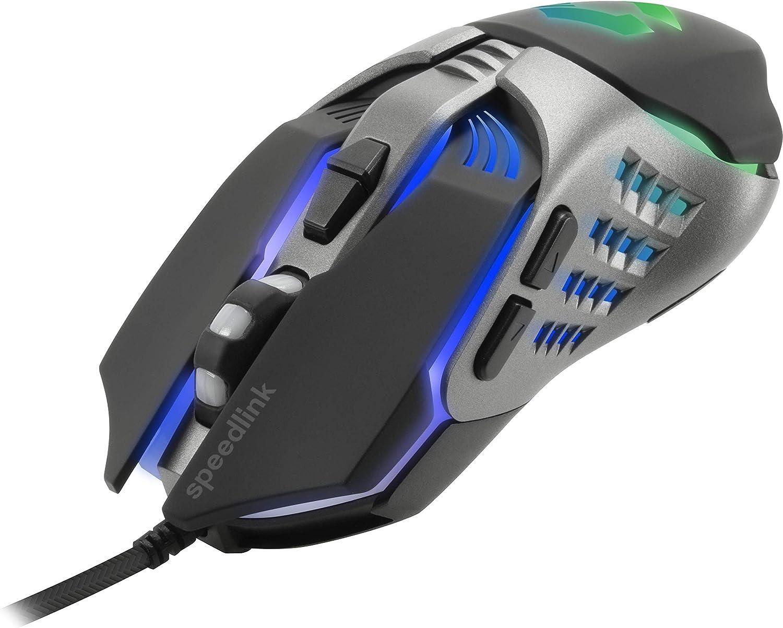 bis 3200 dpi Tastatur-//Maus-//Mauspad-Set f/ürs B/üro//Home Office Speedlink TYALO Gaming Deskset schwarz