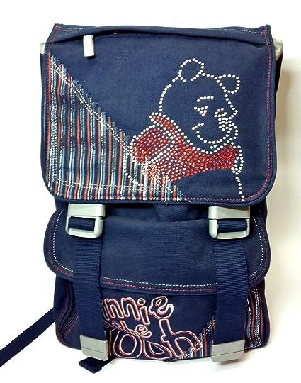 Mochila Winnie the Pooh Escuela Jeans Extensible escolar oferta New