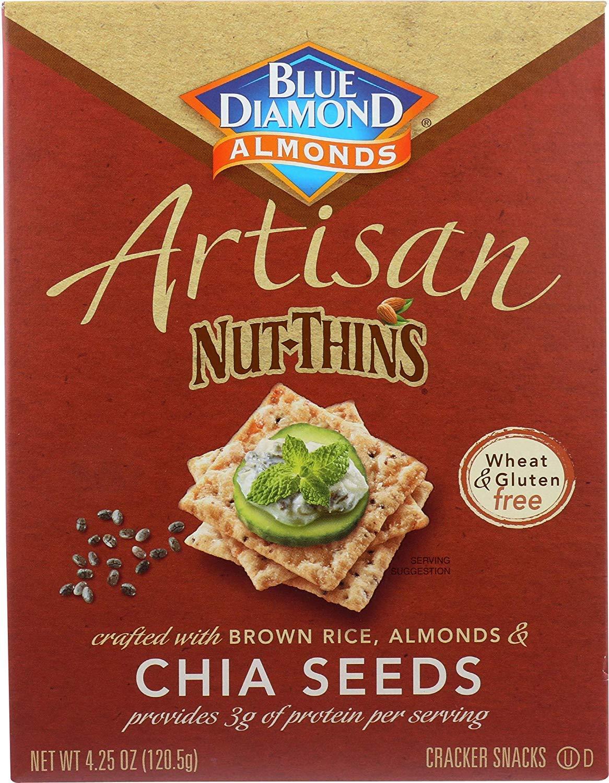 Blue Diamond Artisan nut-thins Chia semillas – -4,25 oz ...