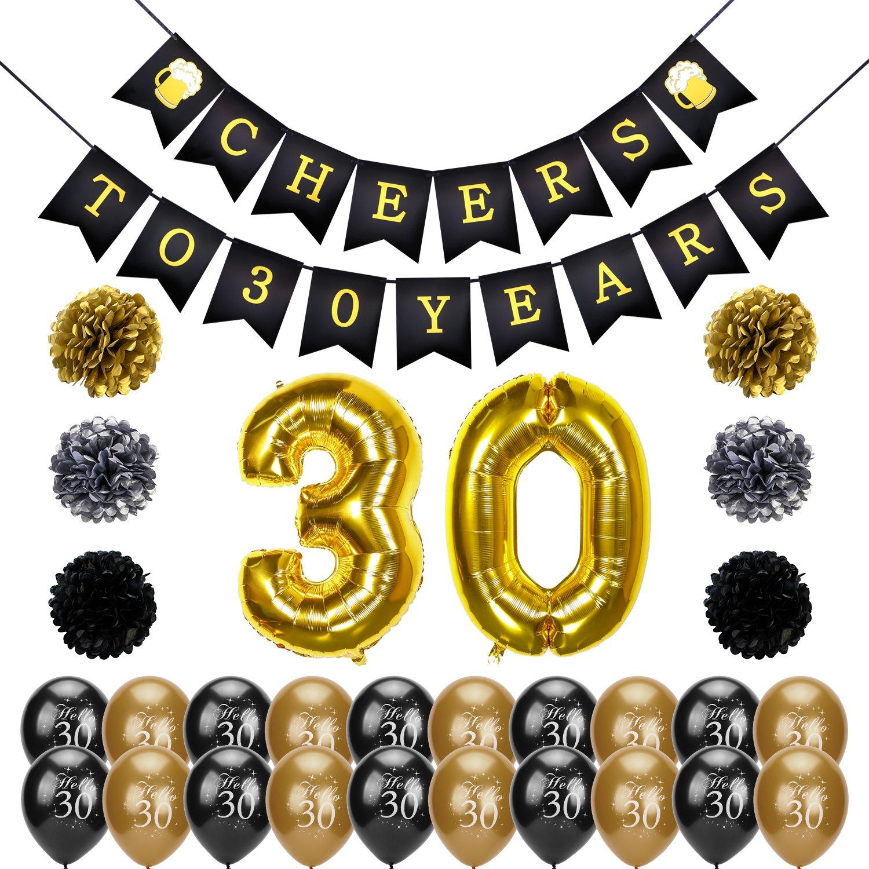Konsait Pancartas de Banderines Cheers to 30 Years ...