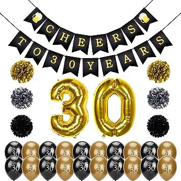 30 Geburtstag Party Set Konsait Cheers Zum 30 Geburtstag Girlande