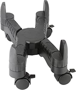 Kantek Mobile CPU Stand with Adjustable Width and Locking Casters, 16-Inch Wide x 7-Inch Deep x 4.8-Inch High (CS200B)