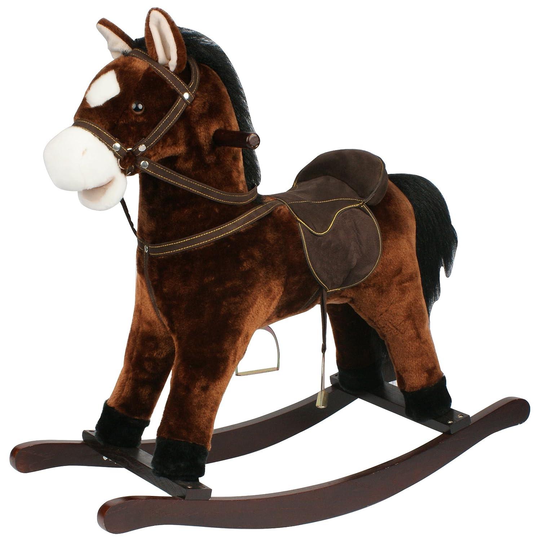'Cheval à bascule Chiko, est un cheval à bascule magnifique, travaillé très aufwendig. Très Haute Qualité, Très résistant couleur Marron avec fonction au galop et bruits gewieher