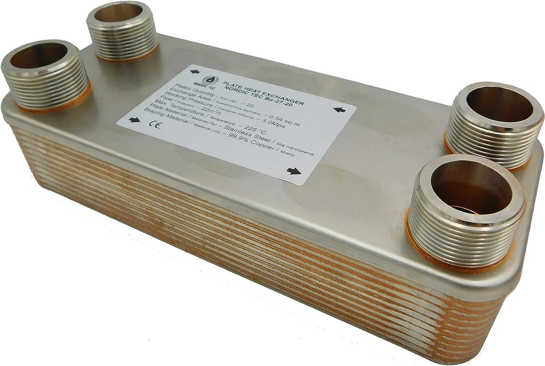 125kW /Échangeur de chaleur thermique /à plaque NORDIC TEC Ba-32-20 20 plaques 1