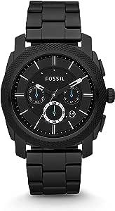 Fossil hombre 45mm Cronógrafo Negro Dial reloj