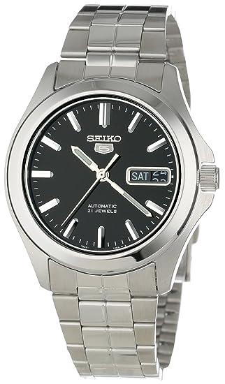 Seiko Reloj analogico para Hombre de automático con Correa en Acero Inoxidable SNKK93K1: Seiko: Amazon.es: Relojes