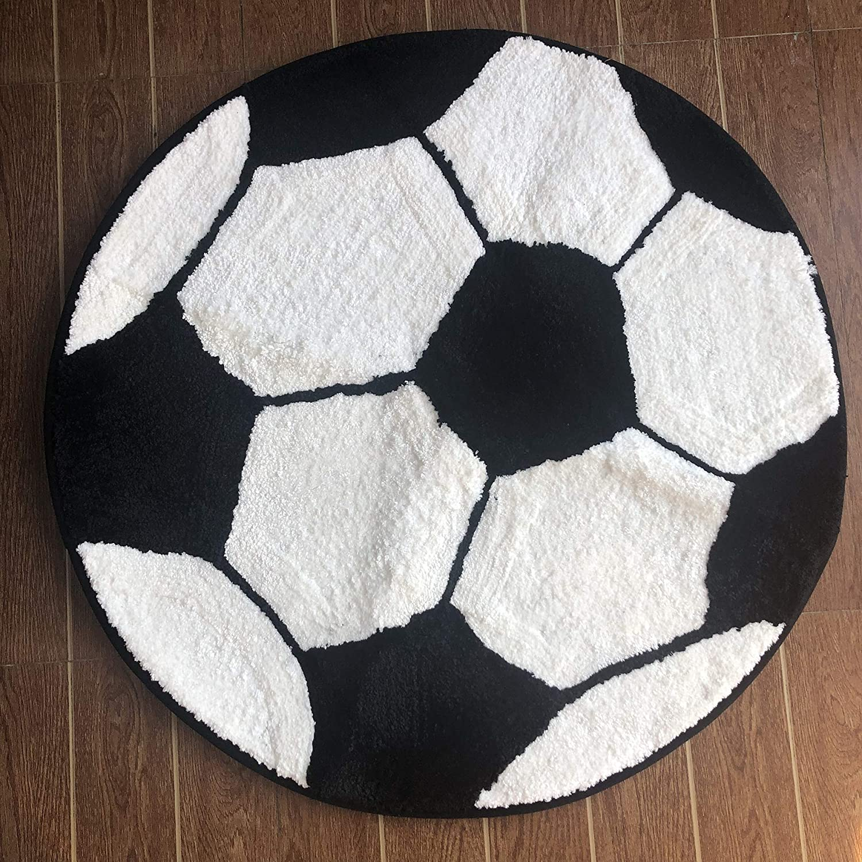 80cm//diameter:2.6 ft,Orange Fancytan Kids Rug Basketball Round Rug Carpet Floor Chair Mat for Kids Rooms Childrens Bedroom