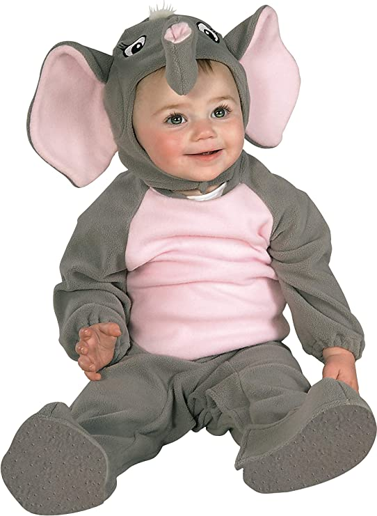 Rubies - Disfraz de elefante para niño, Talla bebé 6-12 meses ...