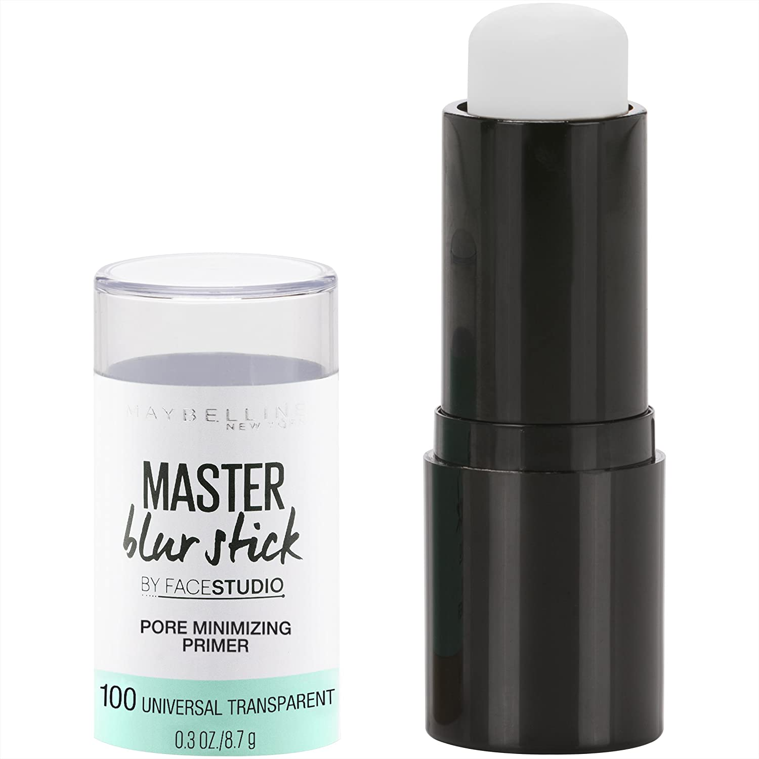 Maybelline New York Facestudio Master Blur Stick Primer Makeup, Universal Transparent, 0.3 oz. 041554548341