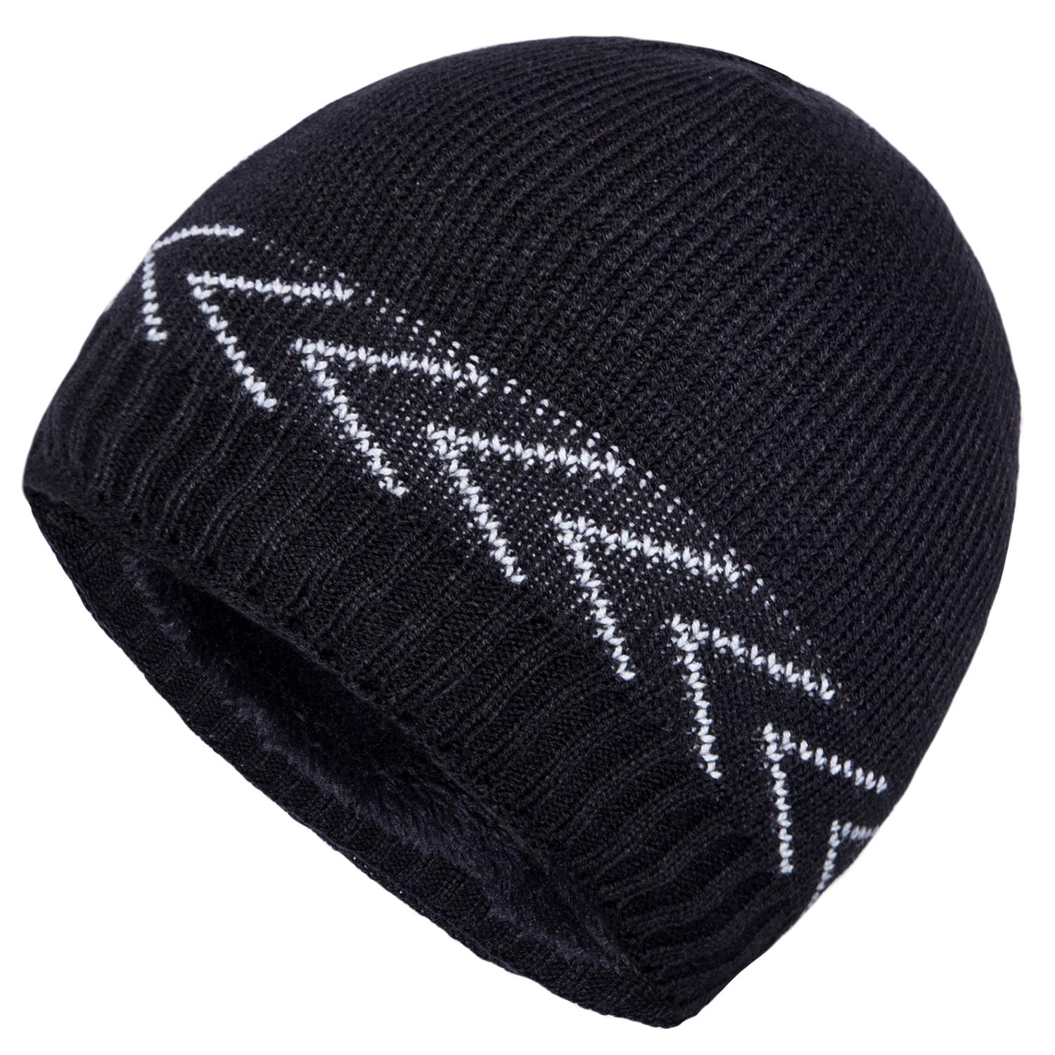 YSense Mens Winter Hats Warm Knit Beanie Plain Fleece Lined Cuff Toboggan  Skull Cap at Amazon Men s Clothing store  336b94504d8